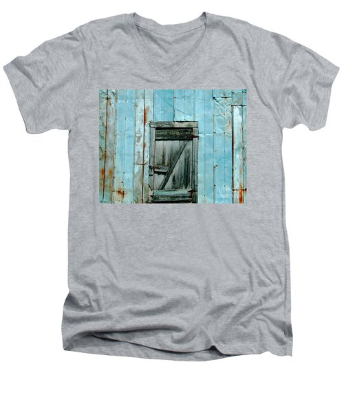Blue Shed Door  Hwy 61 Mississippi Men's V-Neck T-Shirt by Lizi Beard-Ward