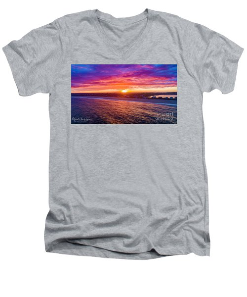 Blue Shutter East Beach Men's V-Neck T-Shirt