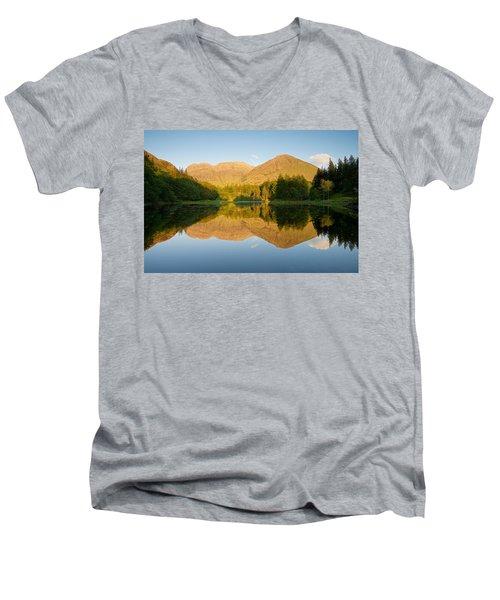 Blue Skies At Torren Lochan Men's V-Neck T-Shirt by Stephen Taylor
