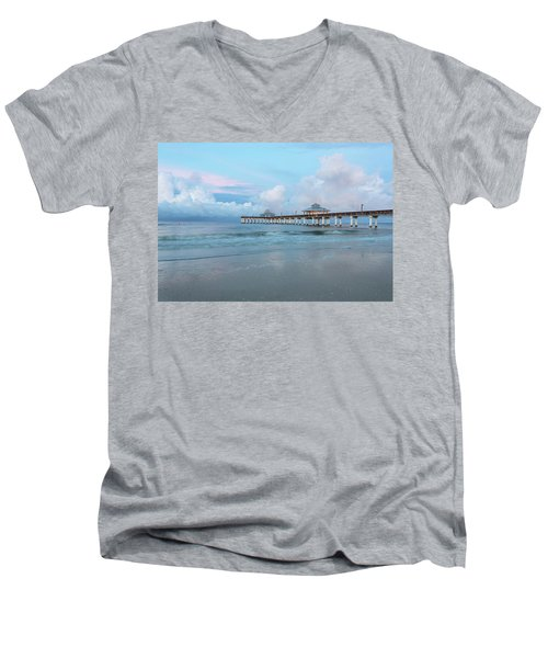 Men's V-Neck T-Shirt featuring the photograph Blue Skies by Kim Hojnacki