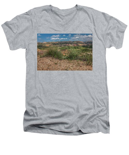 Blue Skies Over Palo Duro Canyon Men's V-Neck T-Shirt