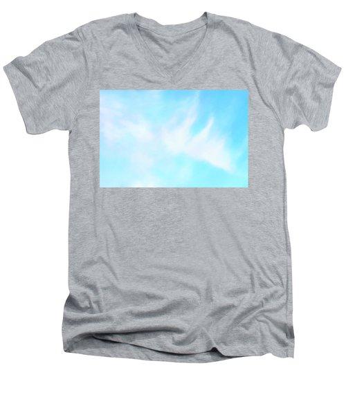 Blue Sky Men's V-Neck T-Shirt by Anton Kalinichev