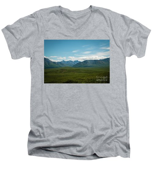 Blue Sky Mountians Men's V-Neck T-Shirt