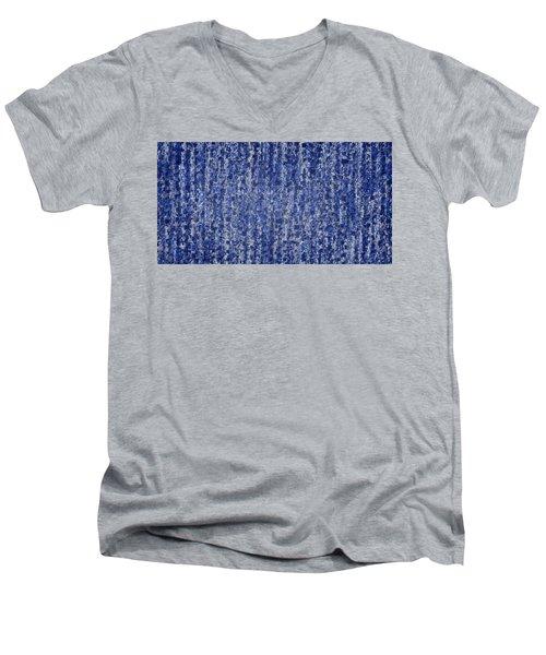 Blue Squared Code Men's V-Neck T-Shirt