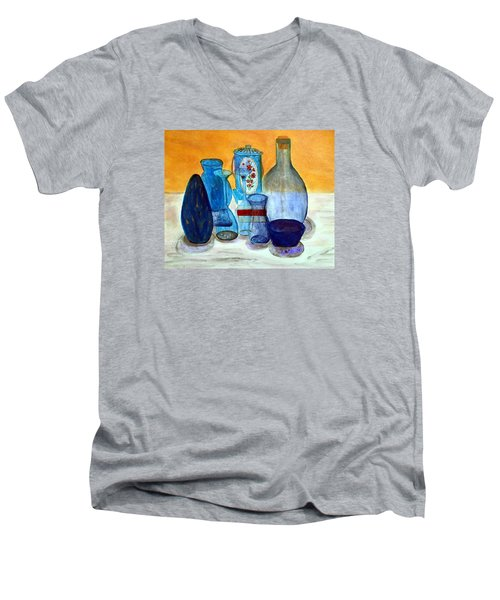 Blue Still Life Men's V-Neck T-Shirt