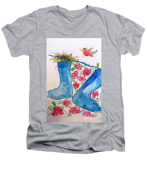 Blue Stockings Men's V-Neck T-Shirt