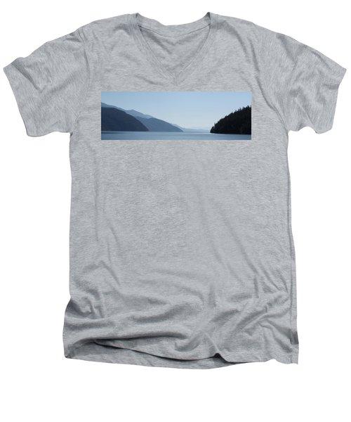 Blue Summer Men's V-Neck T-Shirt by Cathie Douglas