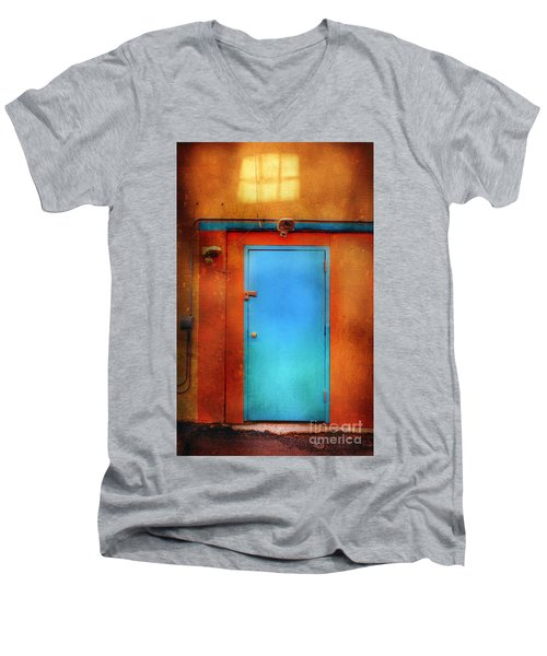 Blue Taos Door Men's V-Neck T-Shirt