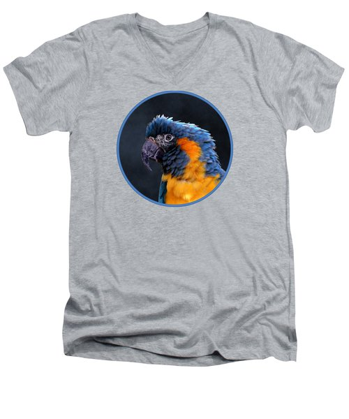 Blue-throated Macaw Profile Men's V-Neck T-Shirt