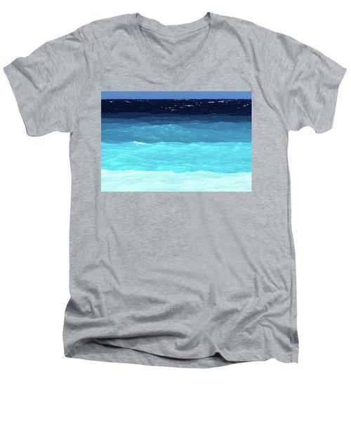 Blue Tones Of Ionian Sea Men's V-Neck T-Shirt