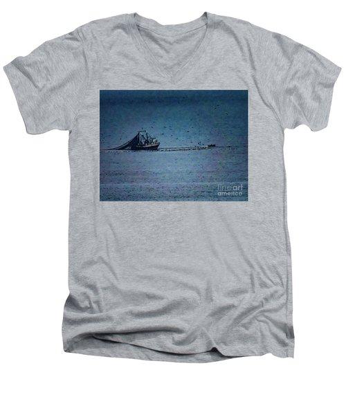 Blue Trawler 1 Men's V-Neck T-Shirt
