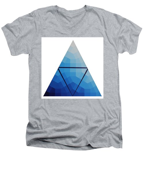 Blue Triangle - Wave Of Blue - Image #10 Men's V-Neck T-Shirt by Peter Mooyman