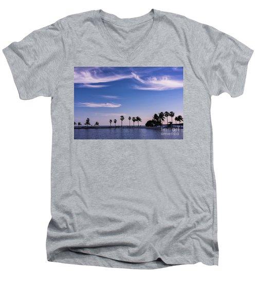 Blue Tropics Men's V-Neck T-Shirt