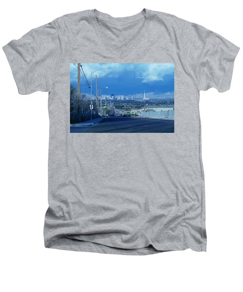 Blue Vegas Men's V-Neck T-Shirt