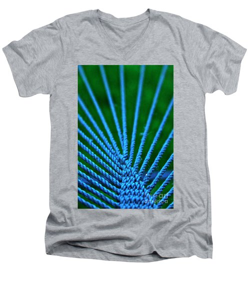 Blue Weave Men's V-Neck T-Shirt