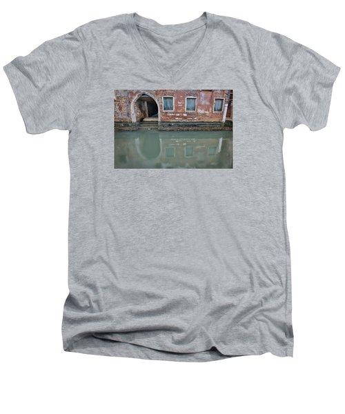 Blue Windows Men's V-Neck T-Shirt by Sharon Jones