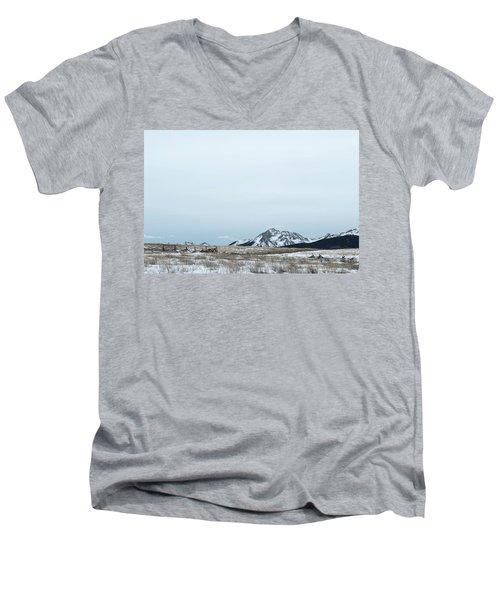 Blue Winter Men's V-Neck T-Shirt