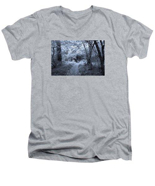 Blue Wood Men's V-Neck T-Shirt