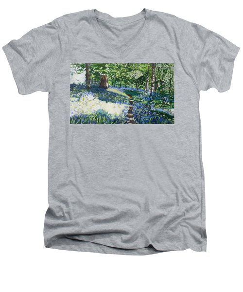 Bluebell Forest Men's V-Neck T-Shirt