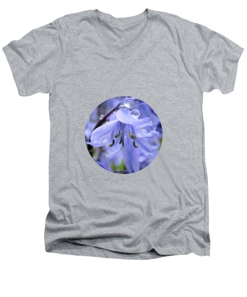 Bluebell Wood By V.kelly Men's V-Neck T-Shirt