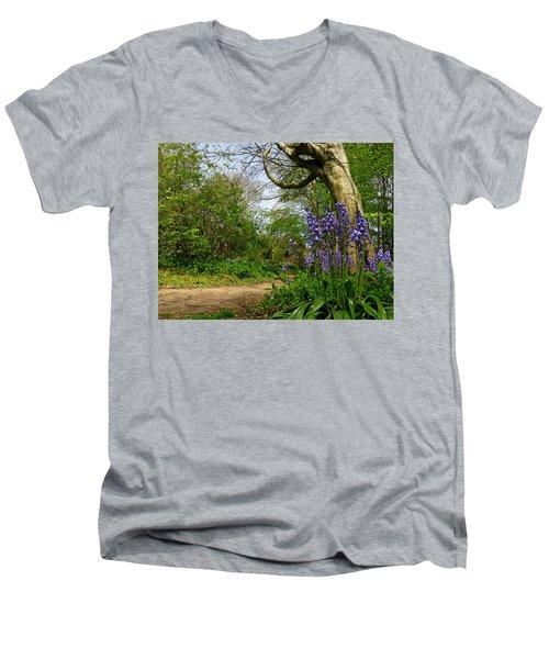 Bluebells By The Tree Men's V-Neck T-Shirt
