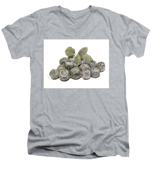 Blueberries Men's V-Neck T-Shirt