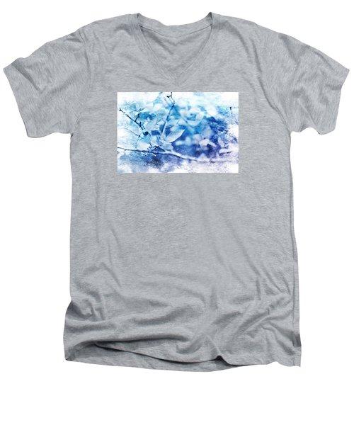 Blueberry Blues Men's V-Neck T-Shirt