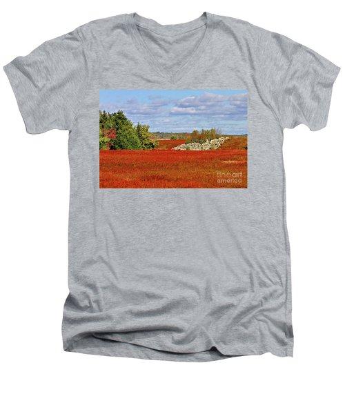 Blueberry Field Men's V-Neck T-Shirt