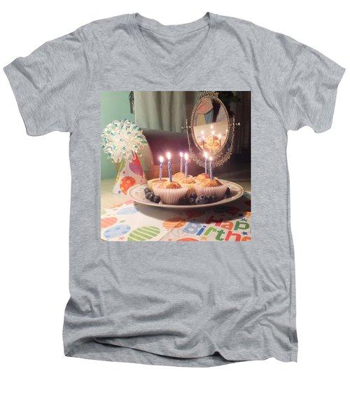 Blueberry Muffin Birthday Men's V-Neck T-Shirt