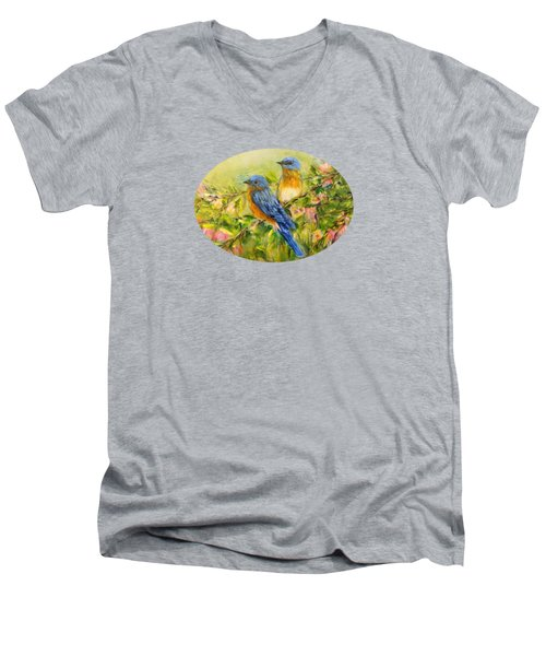 Bluebirds For T-shirts And Accessories Men's V-Neck T-Shirt