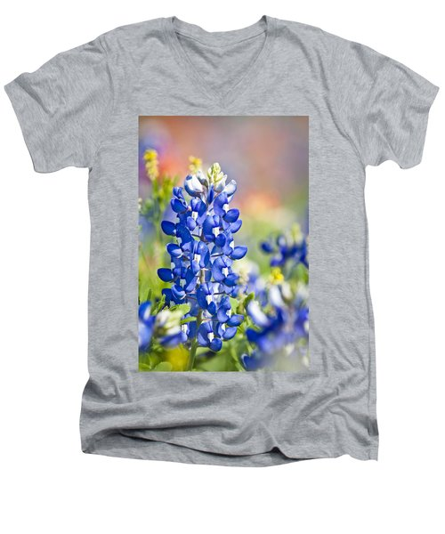 Bluebonnet 1 Men's V-Neck T-Shirt