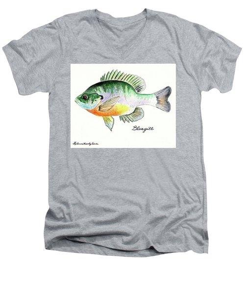Bluegill Fish Men's V-Neck T-Shirt by LeAnne Sowa