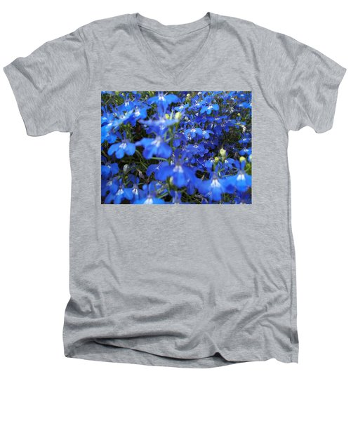 Bluer Than Blue Men's V-Neck T-Shirt