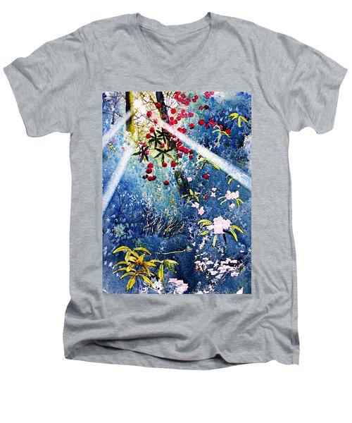 Blues And Berries Men's V-Neck T-Shirt