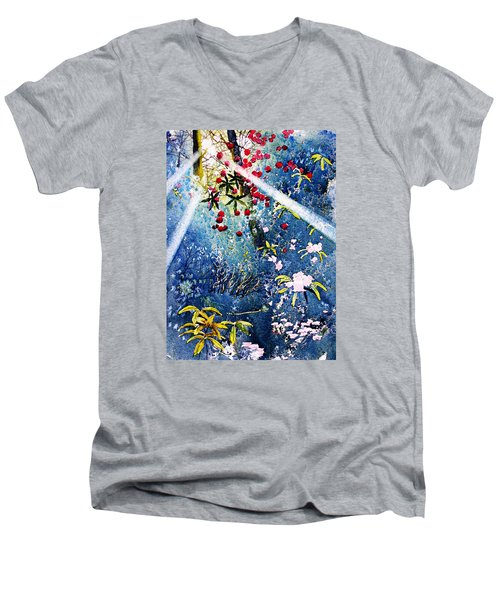 Blues And Berries Men's V-Neck T-Shirt