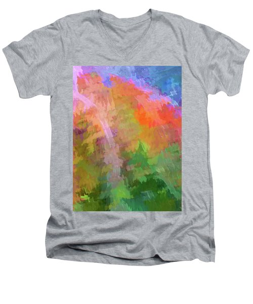Blurry Painting Men's V-Neck T-Shirt by Wendy McKennon