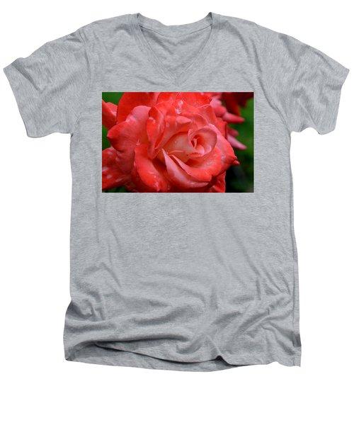 Blush After The Rain Men's V-Neck T-Shirt by Janet Rockburn