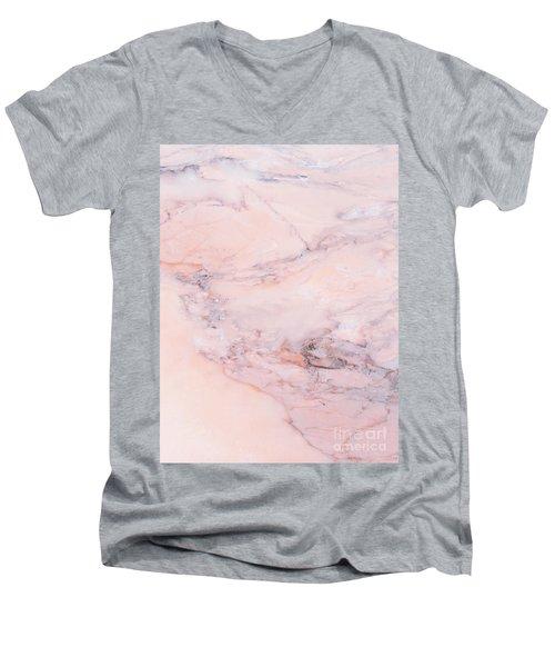 Blush Marble Men's V-Neck T-Shirt