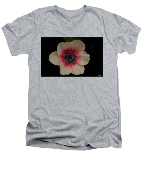 Blushing  Men's V-Neck T-Shirt by Uri Baruch