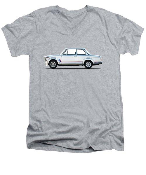 Bmw 2002 Turbo Men's V-Neck T-Shirt by Mark Rogan
