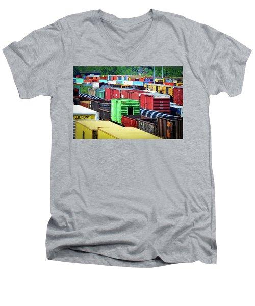 Bnsf Lindenwood Yard Men's V-Neck T-Shirt