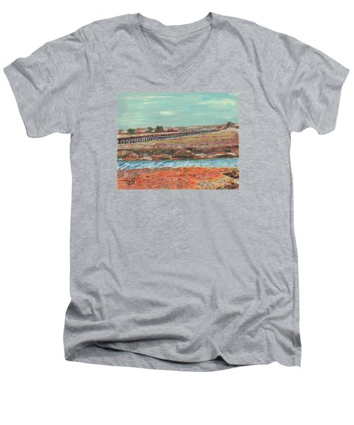Boardwalk At Sandwich Ma Men's V-Neck T-Shirt