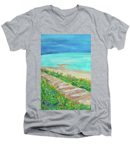 Boardwalk In Carmel Men's V-Neck T-Shirt