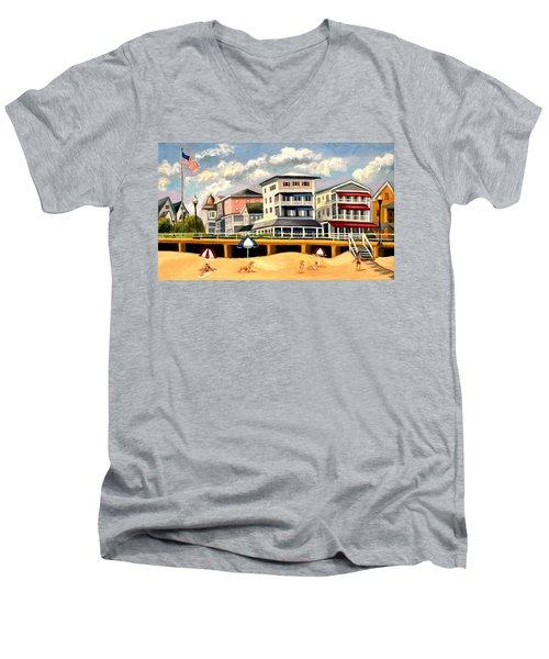Boardwalk On The Jersey Shore Men's V-Neck T-Shirt