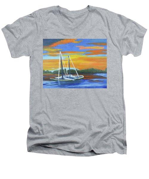Boat Adrift Men's V-Neck T-Shirt