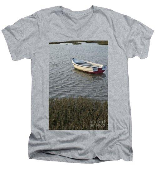 Boat In Ria Formosa - Faro Men's V-Neck T-Shirt