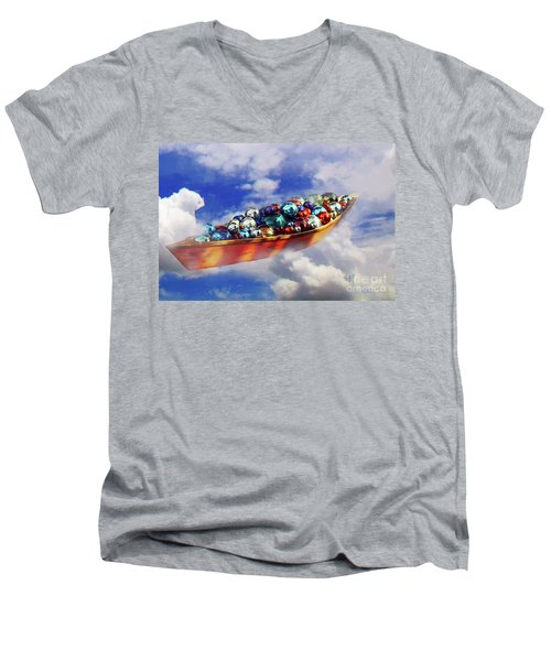 Boat In The Clouds Men's V-Neck T-Shirt