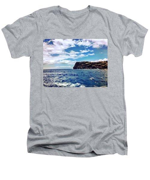 Boat Life Men's V-Neck T-Shirt by Michael Albright