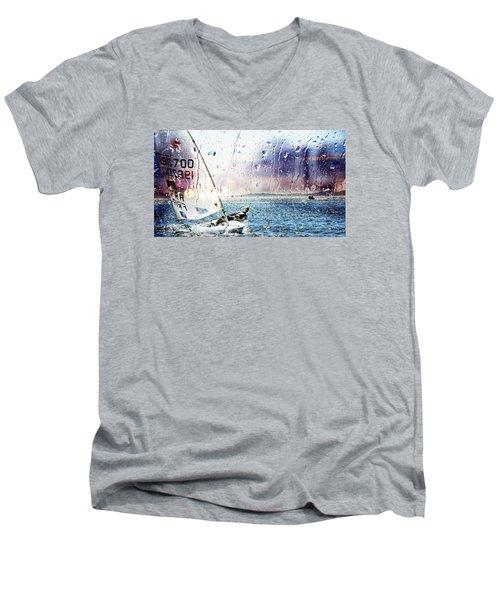 Boat On The Sea Men's V-Neck T-Shirt