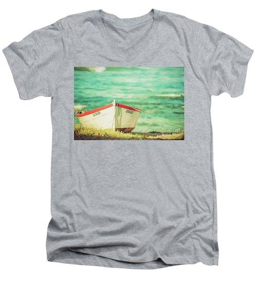Boat On The Shore Men's V-Neck T-Shirt